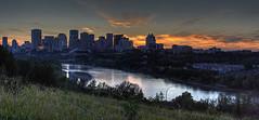 Sunset over Edmonton (John Payzant) Tags: panorama sunset hdr edmonton alberta canada