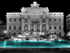 Trevi-Fountain (grothe.manuel) Tags: rome italy trevifountain fountain sigma102035 nikond5300 colourkey blackwhite turquoise nightlights longtermexposure hdr