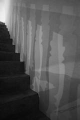 unterbewusst/subconscious (pixxar [back on track]) Tags: unterbewusst subconscious abstract bw sw schatten shadowstreppe stair berlagerung overlay
