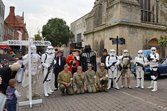Darth Vader and Stormtroopers in Gloucester (davids pix) Tags: darth vader stormtroopers star wars town crier reenactors gloucester city 2016 27082016