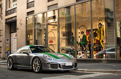 Green stripes (David Clemente Photography) Tags: porsche porsche911r porsche991r 991 911r r porschegt3rs 991r porsche991 supercars hypercars germancars germansupercars