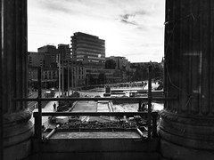 Nottingham, from the council house (Dradny) Tags: robinhood scaffold marketsquare slabsquare councilhouse nottingham