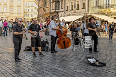 Jazzy sounds in Prague (dorrisd/ unable to comment for a while) Tags: praag tsjechië cz img1658 praha prague music jazzy musicians instruments live entertainment perform performance streetview oldtownsquare oldtown unesco sightseeing spot location place capital city czechrepublic clarinet banjo bass washboard frottoir percussion lively atmospheric musical sound mienekeandewegvanrijn andeweg dorrisd mieneke trips travel photography countries europe bohemia candid band group cobblestones unescoworldheritagesite staroměstskénáměstí staréměsto prag praga staremesto