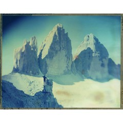 Feeling Small At Tre Cime  Polaroid 59, 4x5 Ebony   www.bastiankalous.com  #mountains #southtirol #sdtirol #livefolk #thegreatoutdoors #snapitseeit #polavoid (Bastiank80) Tags: instagramapp square squareformat iphoneography uploaded:by=instagram