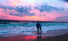 It is a dream (Rajavelu1) Tags: sunset arabiansea sea water wave reflection colours beach beautyofnature nature sand art artland aroundtheworld creative canon60d mothernature allapuzha kerala india landscape seascape