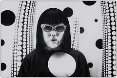 Yayoi Kusama (Dale Michelsohn) Tags: moderna yayoikusama art exhibition wax model effigy blackandwhite monotone dalemichelsohn canon g5x