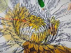 DSC0966854 (scott_waterman) Tags: scottwaterman painting paper ink watercolor gouache lotus lotusflower detail