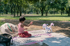 The Horse Whisperer (AvikBangalee) Tags: littlegirl playing homeless park suhrawardyudyan sexworkersdaughter makeshiftlivingspace toyhorse inflatabletoy mothersgifttodaughter avikbangalee happiness playful joy childhood dhaka bangladesh