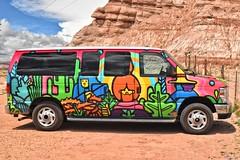 Harmonization (goodhike) Tags: cactus desert transportation car vehicle automobile ut utah van painting