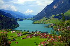Paradise places (mark.paradox) Tags: lake lungern obwalden switzerland village outcrops meadows pastures landscape view scenery hill beauty mountain valley paradise outdoor travel trail trip colors              wow