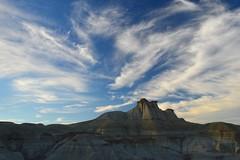 Cirrus uncinus over badlands (andreas.christen) Tags: cirrus clouds dinosaurprovincialpark alberta canada geology weather sediments badlands
