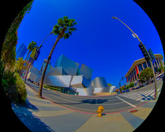 Walt Disney Concert Hall, Dorothy Chandler Pavilion, Downtown Los Angeles, HDR, 15 March 2016 (SDSk8r) Tags: losangelescountycities losangelescounty americanstates californiacounties losangeles downtownlosangeles areasinlosangeles buildingsindowntownlosangeles waltdisneyconcerthall typeofimage hdr countries california unitedstates dorothychandlerpavilion performingartsvenues dtla us