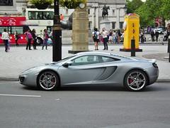 Mclaren Mp4-12c (kenjonbro) Tags: uk london westminster silver grey engine trafalgarsquare mclaren charingcross twinturbo v8 2012 sw1 38litre kenjonbro mp412c fujihs10 m838t lj61fhb