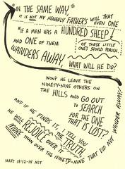 WANDERS AWAY (Paul Goode) Tags: lotsofnotes biblenote