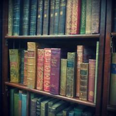 Vintage Books Vignette (Calsidyrose) Tags: old vintage reading books covers spines bookshelves earthtones muted bibliophile booklovers