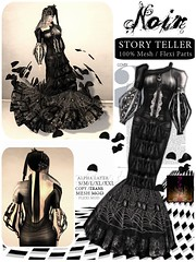 [LeeZu!] NOiR Story Teller (Vixie Rayna) Tags: fashion shopping noir dress mesh gothic secondlife gown couture lbd storyteller leezubaxter leezu leezubaxterdesigns noircollection