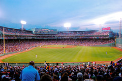 (kdem) Tags: world city trip travel sky usa green boston clouds america ma lights us audience baseball stadium massachusetts redsox fans fenway catcher pitcher beantown basemen nikond40 nikon40