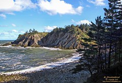 Smuggler's Cove in Digby County Nova Scotia, Canada (PhotosToArtByMike) Tags: sea cliff seascape canada landscape coast seaside rocks surf novascotia cove ns scenic wave cave smugglerscove digbycounty lobsterfishing landscapephotograph