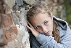Sad child (Piccolets) Tags: poverty street portrait white cute girl face wall female youth neglect person sadness kid pain eyes hands pretty solitude alone child sad emotion fear homeless poor daughter young social orphan teen domestic help blond tired angry depression teenager violence despair depressed slovakia lonely scared unhappy problems issues abuse grief upset caucasian