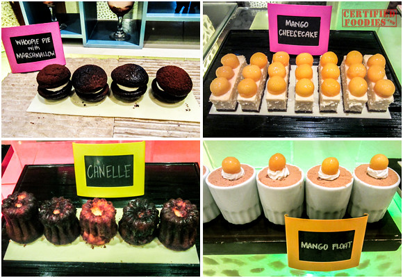 Whoopie Pies with Marshmallows, Mango Cheesecakes, Canelles, and Mango Float at Cafe Jeepney