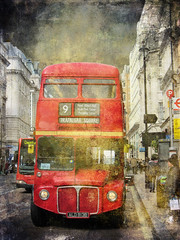 The Number 9   , the Classic Red Double Decker Bus .. London