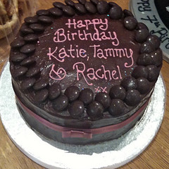 Chocolate Minstrel Birthday Cake
