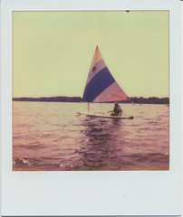 Sunfish. (N.Misciagna) Tags: camp sun lake fish slr film water analog project polaroid boat cool woods sailing tip integral instant pleasant 680 imposible px cotw