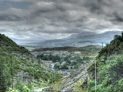 Blaenau Ffestiniog (D  a  v  e) Tags: pictures cloud house mountain station dave photo power image photos pics images photograph jpg slate jpeg hdr jpgs jpegs tonemapped sumpner