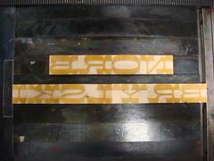 Brylski on press (Nick Sherman) Tags: printing letterpress wi forme typecon woodtype tworivers hamiltonwoodtypeprintingmuseum brylski typecon2012