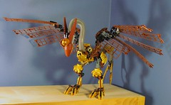 Wyndvern (retinence) Tags: windmill dragon lego fusion bionicle steampunk wyvern brickfair wyndvern