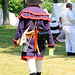 Sackets Harbor 1812 Bicentennial reenacter, with Slurpee. Photo: Kenyon Wells.