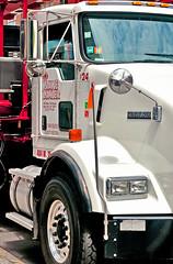 Prince Lumber (pollylew) Tags: white newyork truck reflections wheels transport manhatten greenwichvillage
