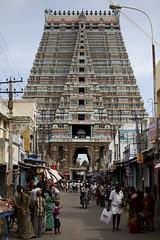 The city inside the temple (Scalino) Tags: india tower temple south sri tamil tamilnadu inde nadu trichy dravidian gopuram tiruchirapalli ranganathaswamy trichinopoly cheesenaan dravidien