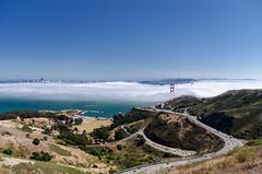 Fog over the bay (morozgrafix) Tags: sanfrancisco fog highway foggy 101 goldengatebridge freeway sanfranciscobay marinheadlands sigma1020mmf456 scatrail nikond7000