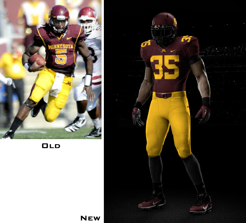 4dcf3cce6ee Here are some additional photos of the uniform, and the helmet, plus a  video clip. Also, the Gophers have added a