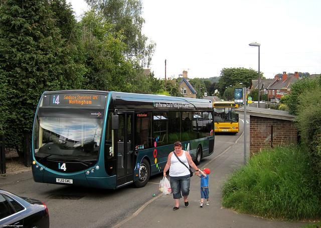 bus green buses derbyshire arc august 330 busshelter trent barton 14th sr tempo motherandchild 2012 i4 audia4 sandiacre stapleford optare trentbarton stantonroad optatre gillstravel yj12gwl
