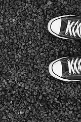 - 227/366 - (Pieter D) Tags: bw white black stone shoe shoes stones 365 day227 366 project365 pieterd project366 mostly365 365the2012edition 14082012