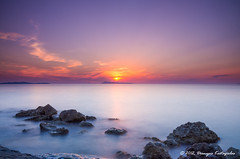 Sunset At Loggas (Dionysis K) Tags: longexposure sunset sea sun seascape pentax greece nd corfu k5 gnd  anawesomeshot