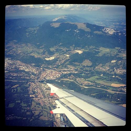 Flying into Geneva