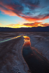 Lead me to the Light (D Breezy - davidthompsonphotography.com) Tags: california travel winter sunset colors lines clouds reflections unitedstates desert theend salt flats deathvalley mojavedesert deathvalleynationalpark 1740f4l dvnp 1740mml canon5dmarkii californiainyocounty andnotbadwater usadeathvalleynationalpark