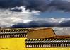 Roof, tiles of majolica and... sky. (Felipe 1930) Tags: citritbestofyours mmmilikeit justcolours yello4u rooftilesofmajolicaandsky architecture4u