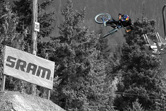 Expanding the limits of gravity (Fireboard) Tags: canada speed canon eos is bc gravity 7d usm crankworx 2012 joyride limits whister 70300