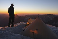 "Khufu CTF3 + Customized Full Breathable-Ripstop Inner Shelter was pitched at the Dôme de Neige of the Écrins (4,015m) • <a style=""font-size:0.8em;"" href=""http://www.flickr.com/photos/40286809@N02/7835976958/"" target=""_blank"">View on Flickr</a>"