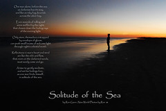solitude of the sea with poem (retiredNpoor) Tags: ocean sunset sea beach poetry solitude surf poem waves darkness silhouettes bythesea poetryandpicturesinternational newworldphotosbyron retirednpoor