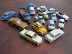 Japanese 1950s-60s collection - Mazda 360 Carol, K360, R360, T2000, Subaru 360, Nissan Datsun 210 & 211, Prince Skyline, Toyopet Corona, Hino Contessa, Hino PA62 Renault 4CV, Daihatsu Midget
