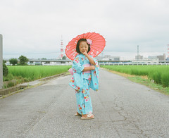 graceful Japanese woman (Toyokazu) Tags: family portrait girl beautiful japan kids child dress photogenic pentax67