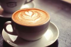 I <3 you too (Explored) (Linh H. Nguyen) Tags: city newyork art coffee shop design cafe pattern heart bokeh sony latte barista layered shamelessplug explored freepour 12corners rokkorx5014 nex7