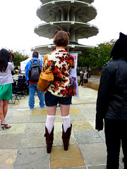 SNAPPER (Lulu Vision) Tags: sanfrancisco people boots japantown kneesocks peaceplaza