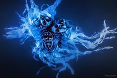 Water Demons (Von Wong) Tags: underwater insane crazy demons scary freaky trio medusa glowing freak halloween blue aliens alien von wong montreal phtoography photographer intense blacklights glow dark