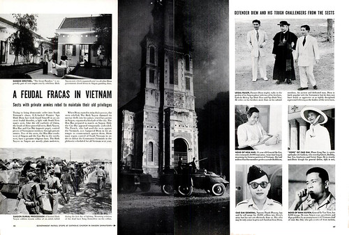 LIFE Magazine,  18 April 1955 - A FEUDAL FRACAS IN VIETNAM